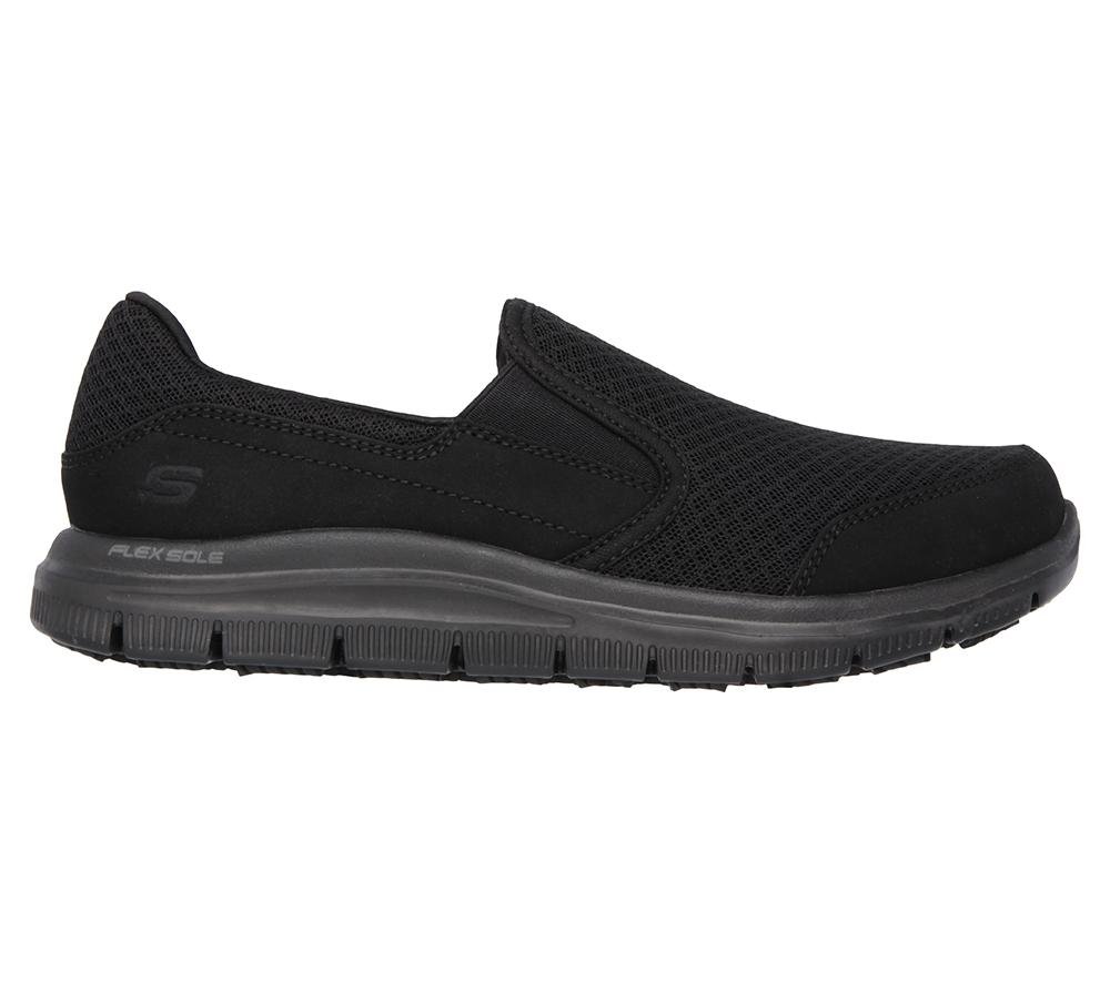 Womens Skecher Work Slip Resistant Memory Foam Slip On Black