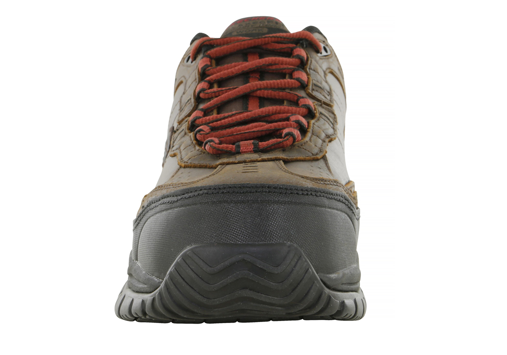 258d621325f47 Mens Skechers Work Composite Toe Slip Resistant EH Constructor II Brown in  Brown