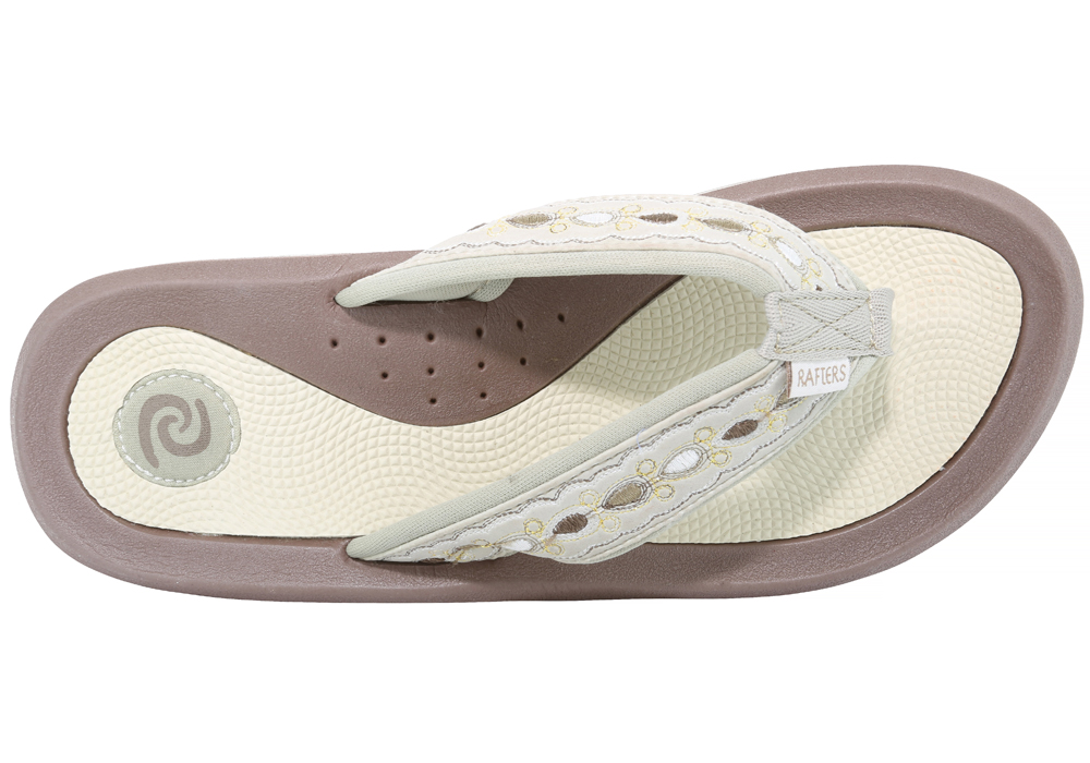 ba9495f0c Womens Rafters Tsunami Thong Oyster in Brown