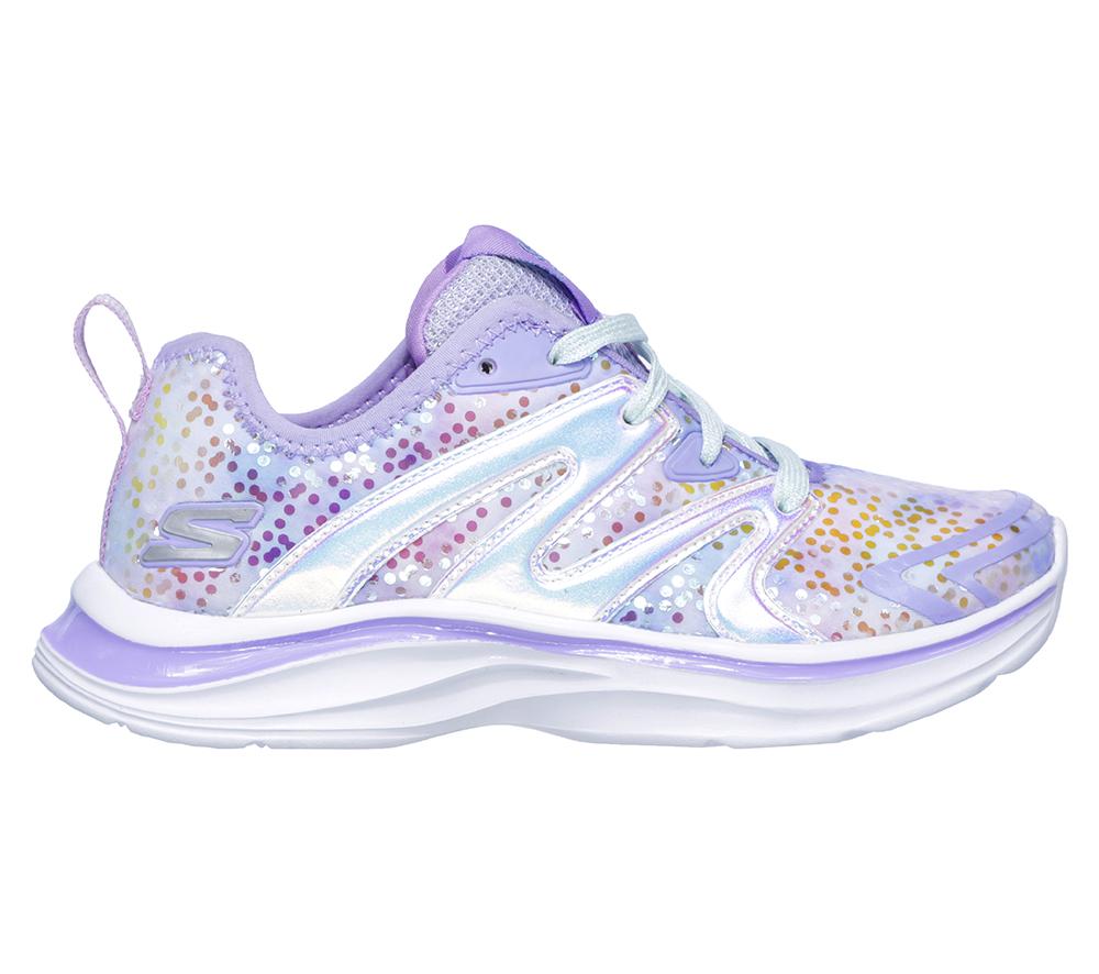 51a1f80a5b8e Girls Skechers Kids Double Dreams Unicorn Kisses Lavender Multi in Purple
