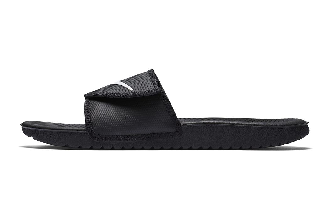 15dbc99f815 Mens Nike Kawa Adjust Slide Black White in Black