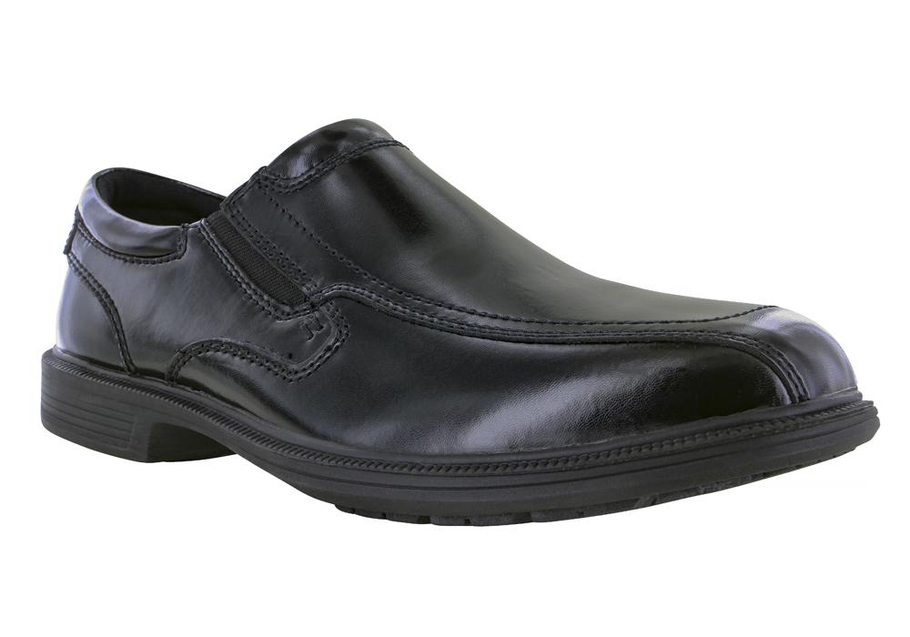 Nunn Bush Men/'s BLEEKER STREET Black slip-on leather  Shoes 84357-001
