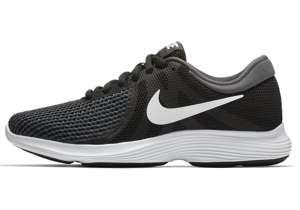 cdf7c61cf6692 Womens Nike Revolution 4 Runner Black White in Black