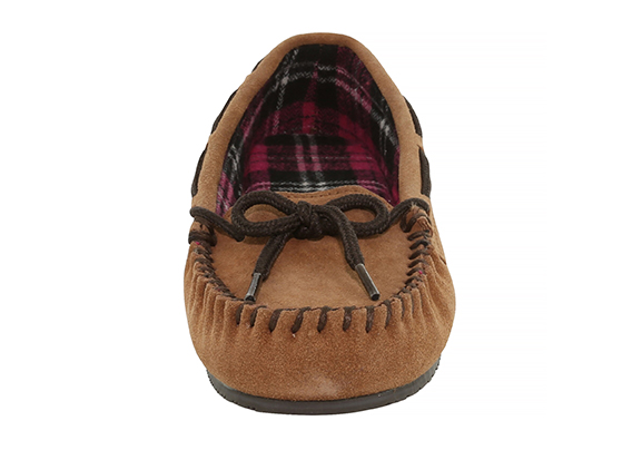 8b63893d249cc Womens Staheekum Comfy Red Flannel Moccasin Wheat