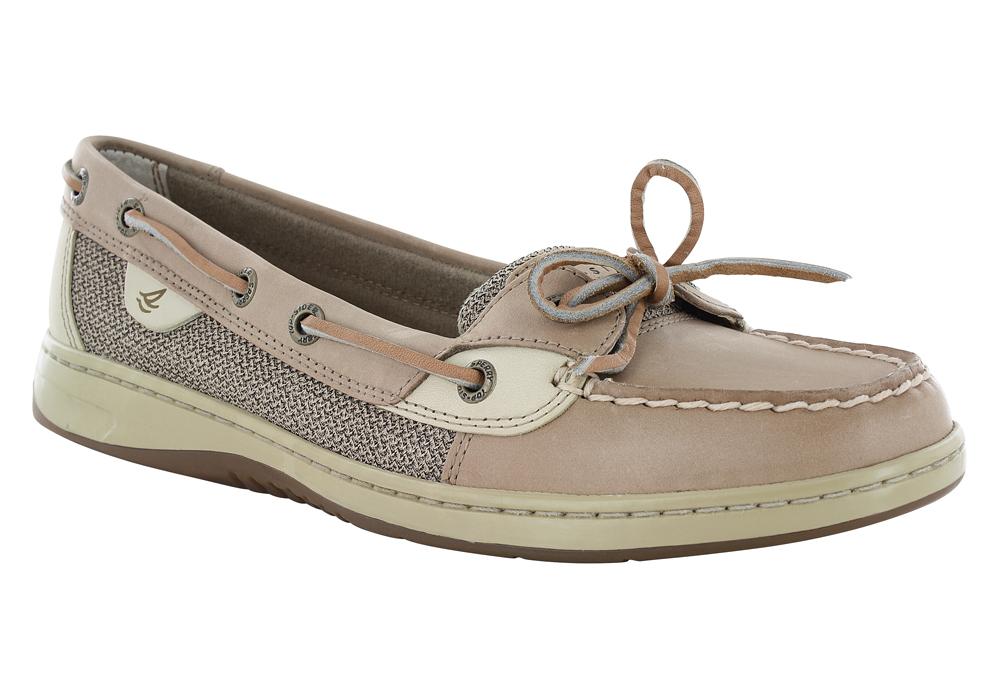 Womens Sperry Angelfish 1 Eye Boat Shoe Linen Oat