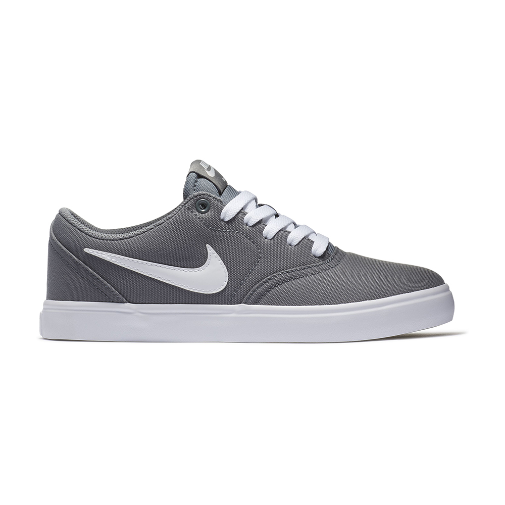 Womens Nike SB Check Solarsoft Canvas Gray White in Gray 48350a84d3