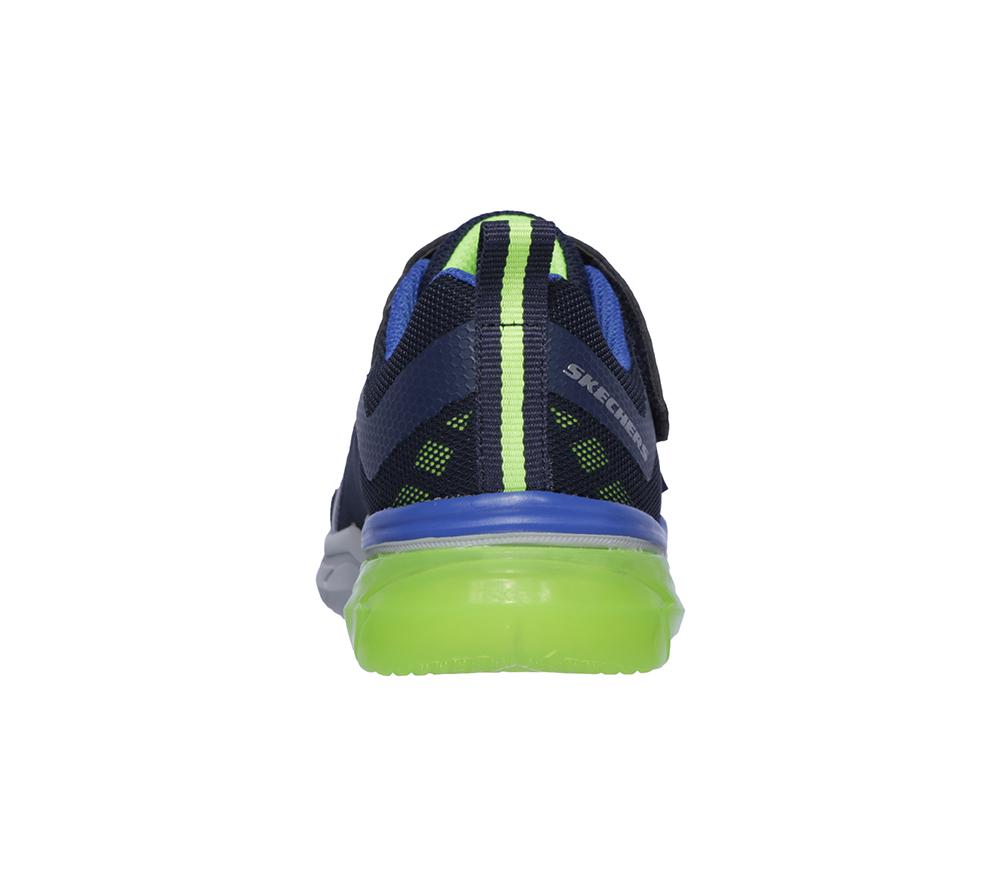 0c46b436889b93 Boys Skechers Kids Thermoflux Nano-Grid Navy Lime in Blue