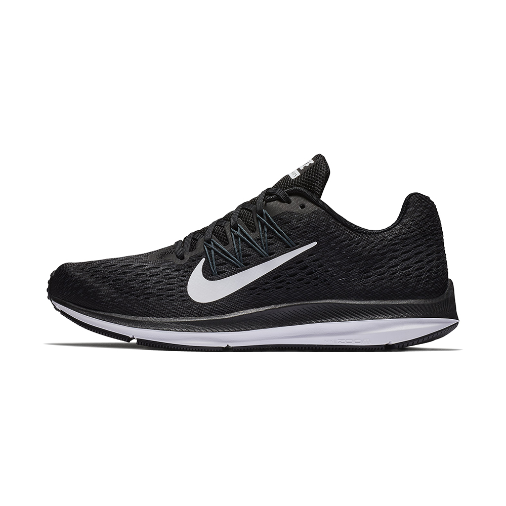 0c0cac59464ad Mens Nike Air Zoom Winflo 4 Runner Black White in Black