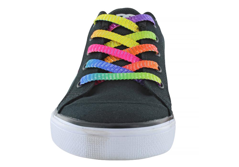 Kids > Girls > Big Girls DC Shoes Chelsea TX SE Skate Black / Rainbow