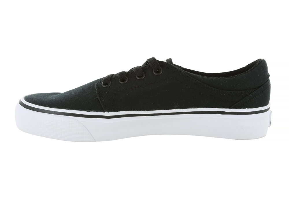 womens dc shoes trase tx canvas black white