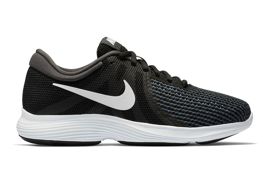 bfcc38b0d3b9e Womens Nike Revolution 4 Wide Runner Black White in Black