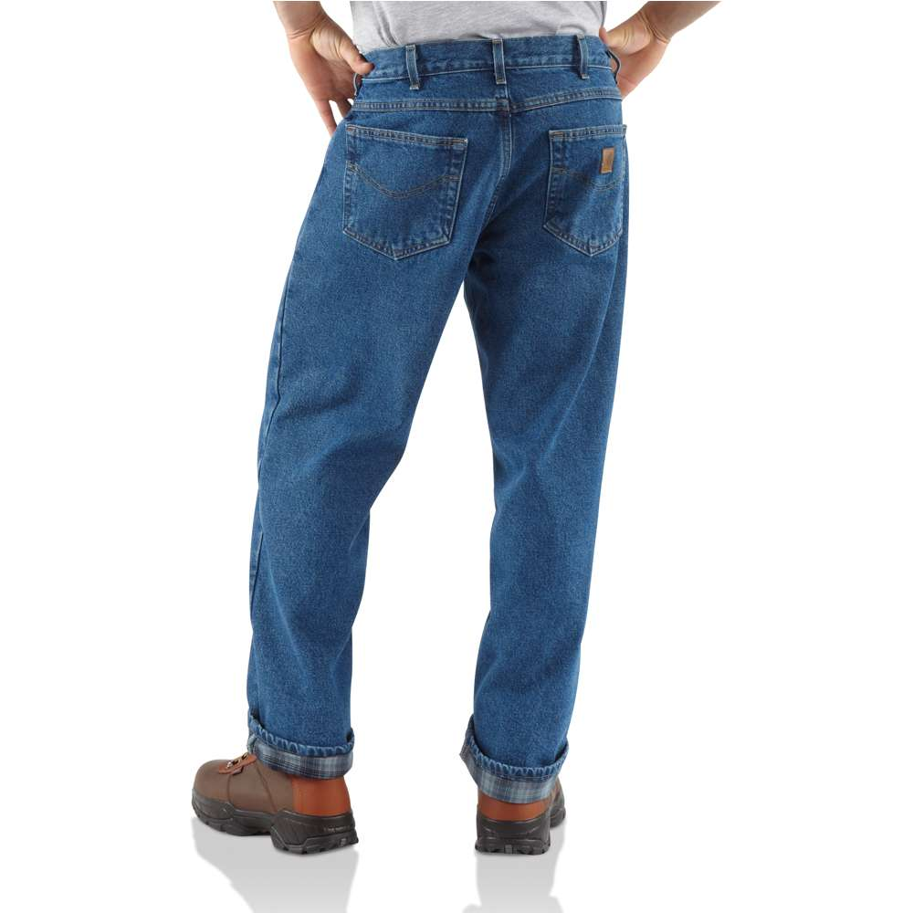 Mens Carhartt Lined Relaxed Fit Jeans Denim