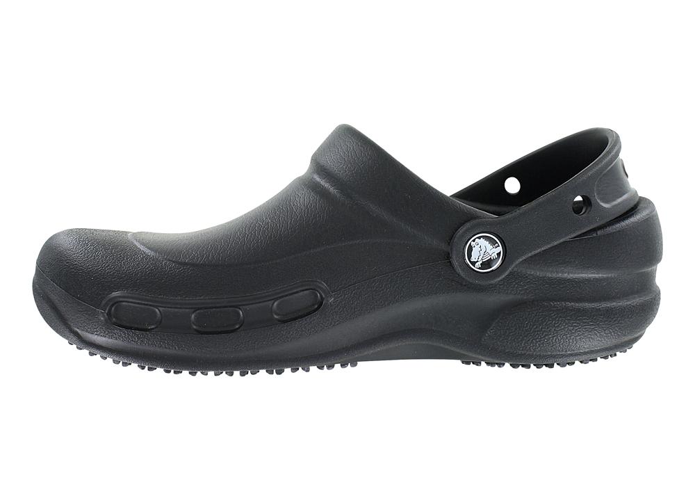 8c886e5cd129bc Womens Crocs Bistro Slip Resistant Clog Black in Black