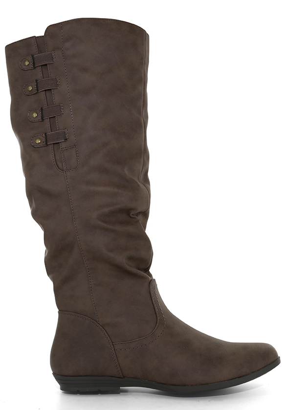 Womens Cliffs By White Mountain Francie Side Zip Boot Brown