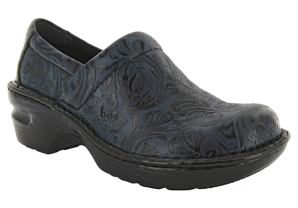 Womens BOC Peggy Slip On Navy Tooled in Blue