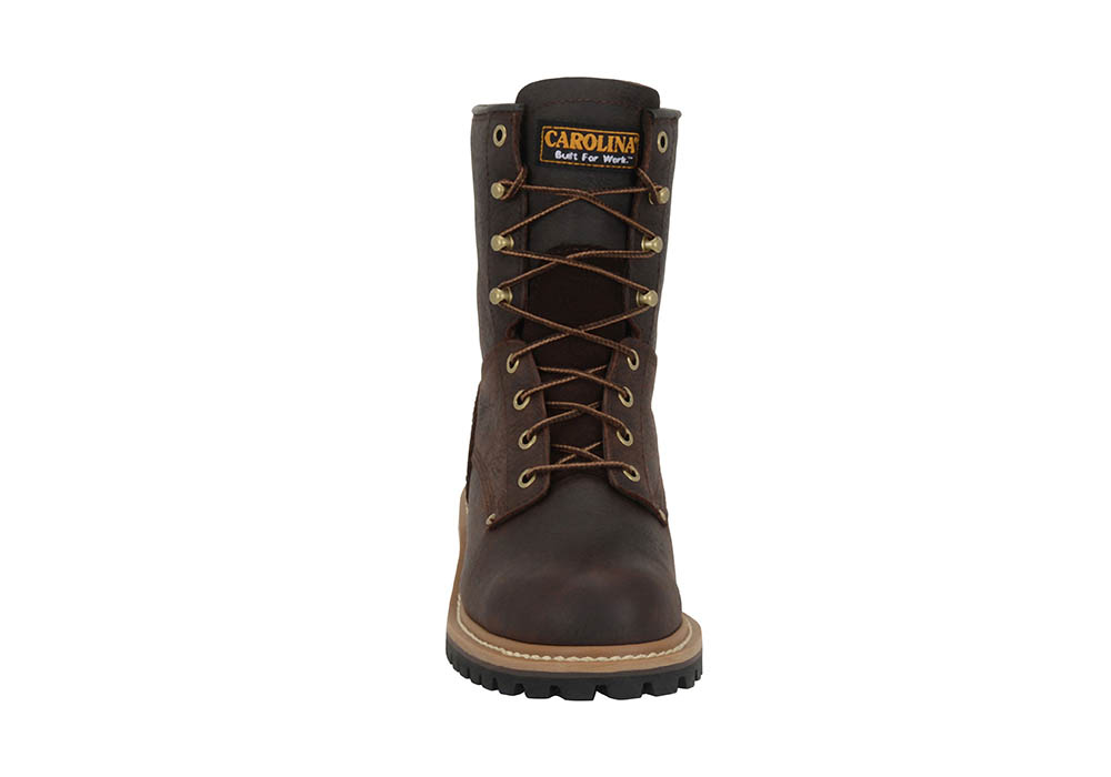 Womens Carolina 8 Quot Steel Toe Eh Logger Brown