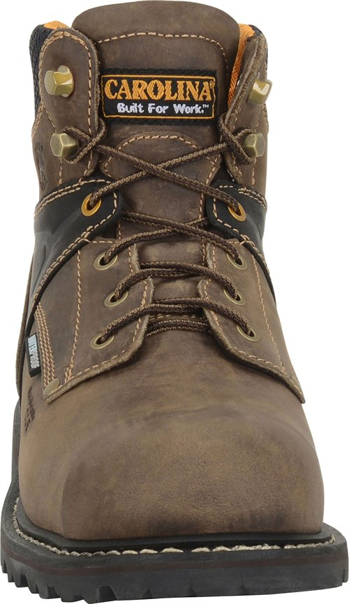 Mens Carolina 6 Quot Hauler Lo Waterproof Composite Toe Boot Brown