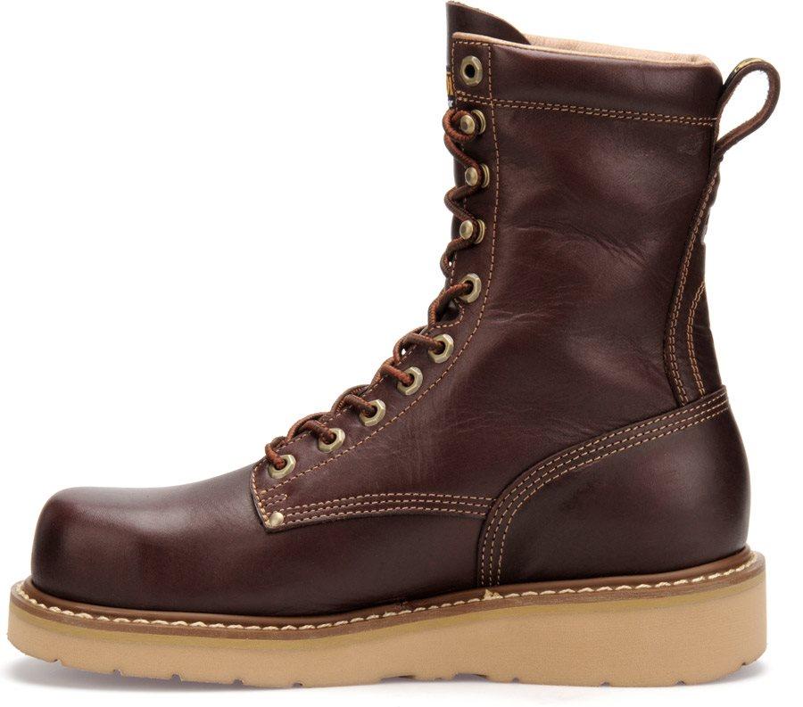 Mens Carolina 8 Quot Steel Broad Toe Wedge Boot Dark Oak