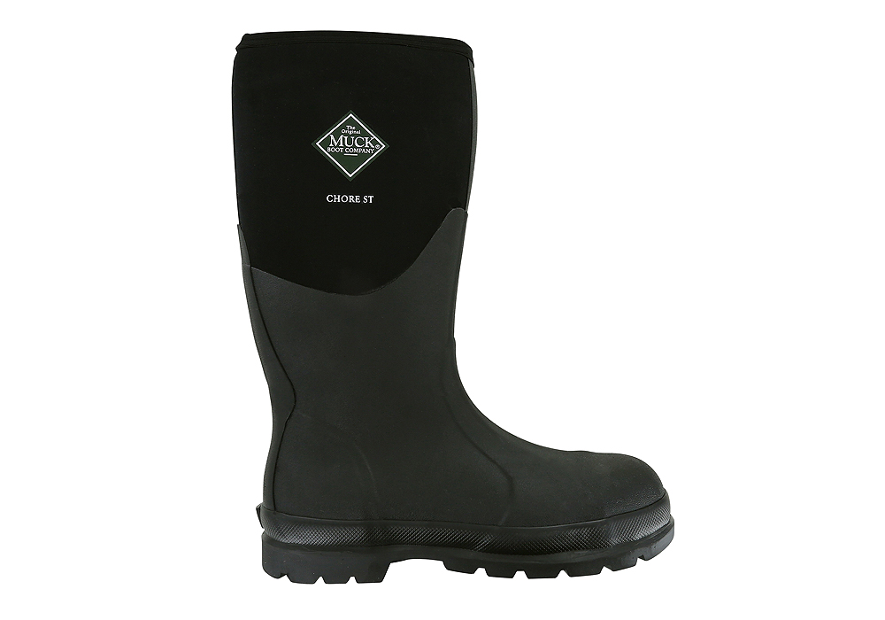 Mens Muck Chore Steel Toe Mid Waterproof Boot Black