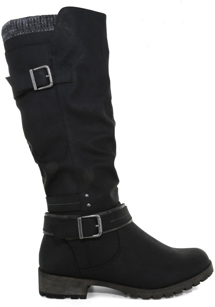 Womens Jellypop Frankie Side Zip Boot Black