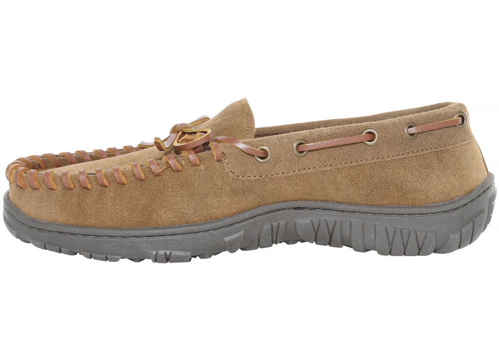 Mens Clarks Trapper Moccasin Light Brown in Brown