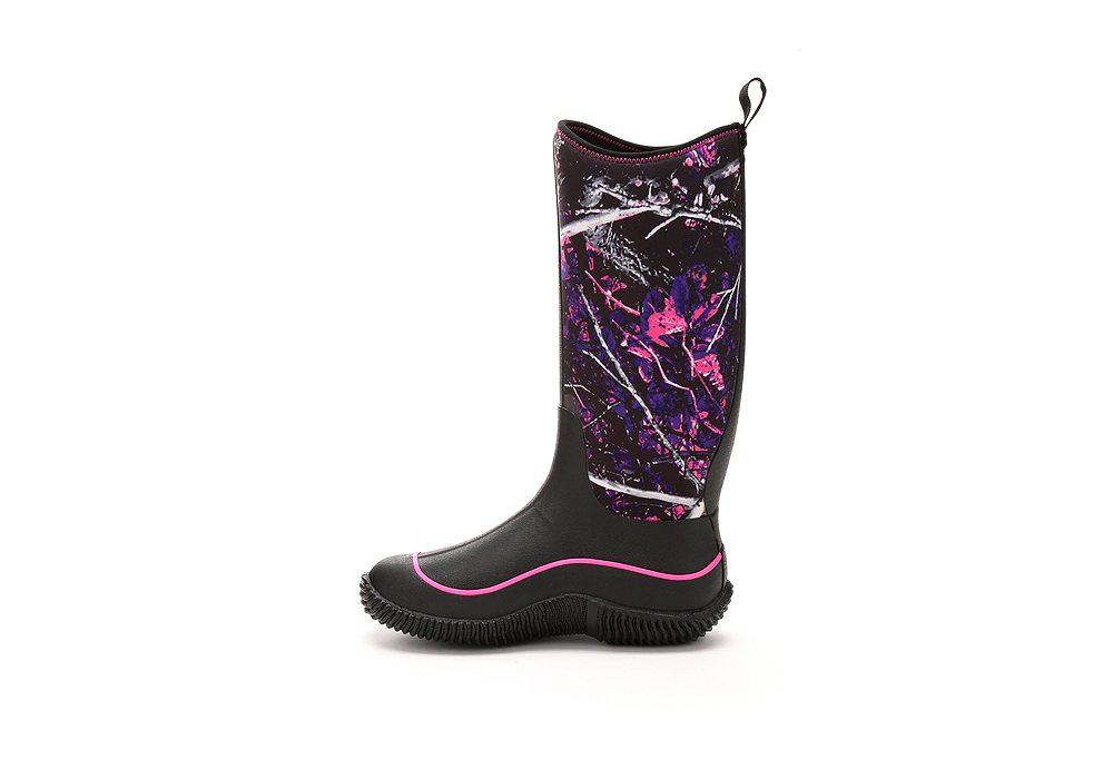 womens muck boot hale wp boot black muddy camo