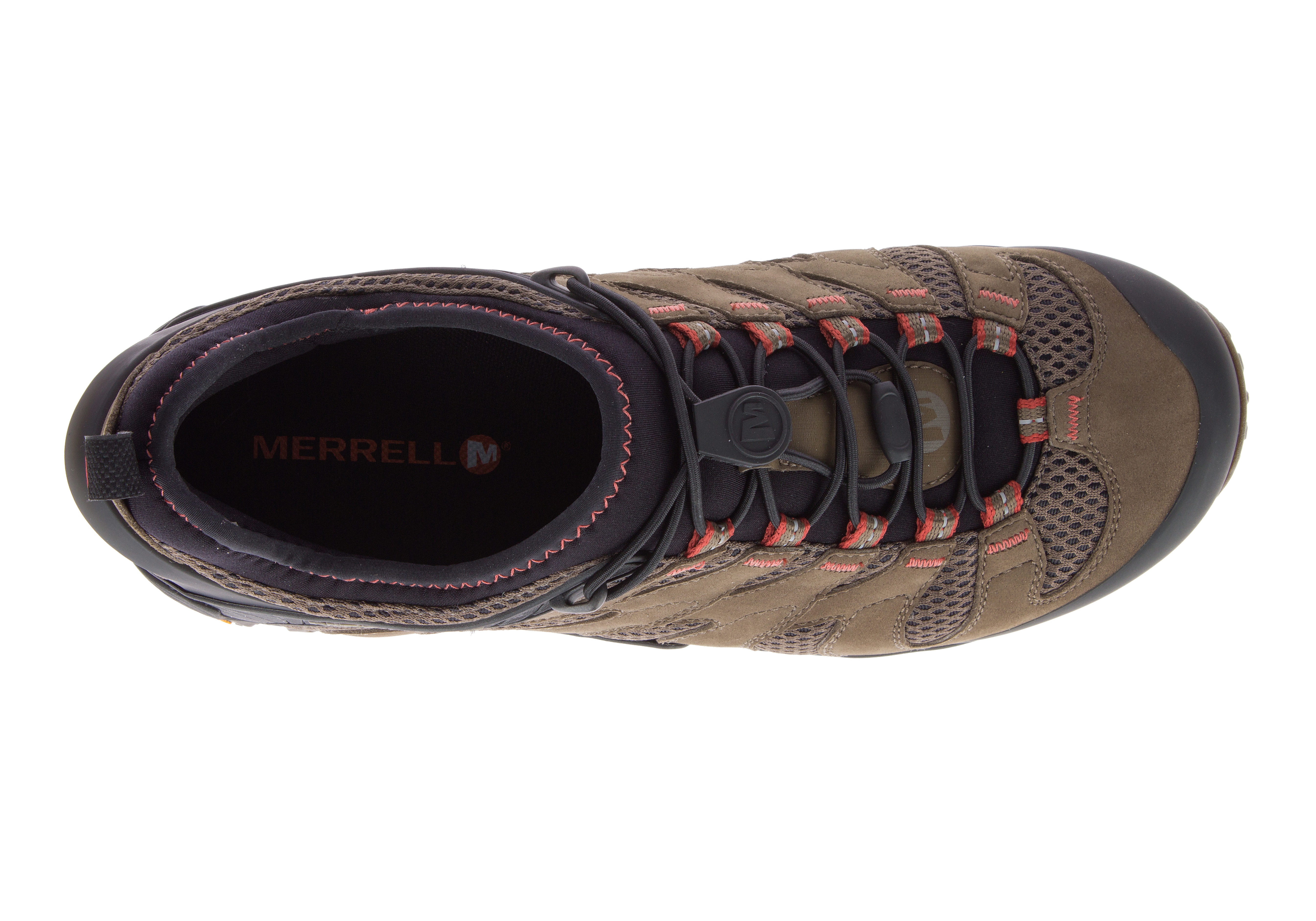 94916b69e32ce Mens Merrell Chameleon 7 Stretch WP Low Trail Boulder in Brown