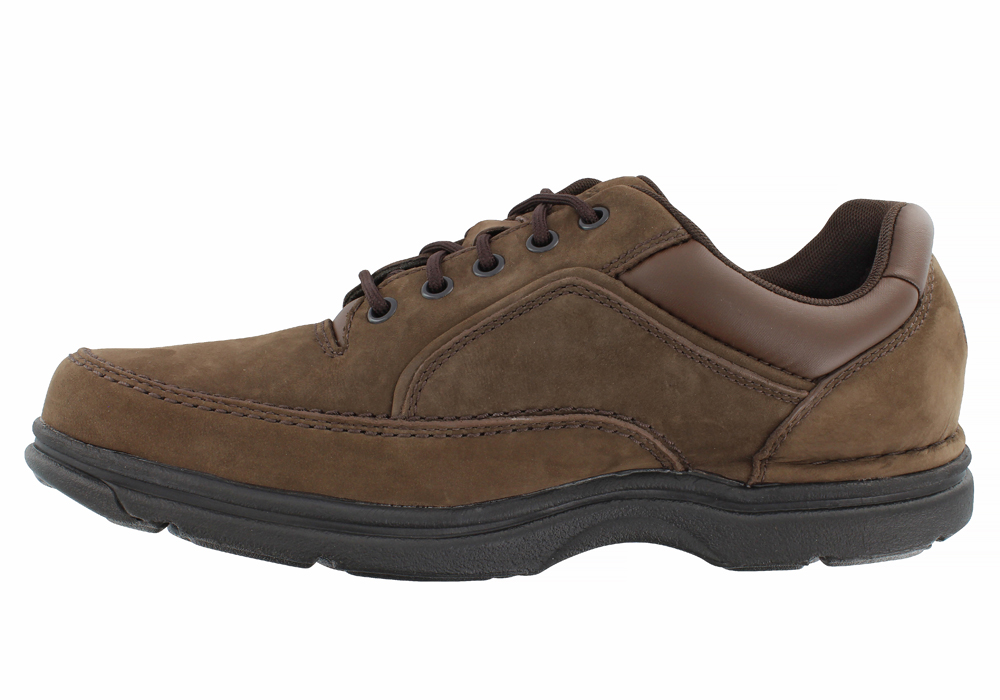 Mens Rockport Eureka Moc Toe Oxford Chocolate in Brown 37dd0169332