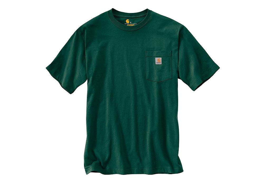 Mens carhartt k87 pocket t shirt hunter green sizes 3xl 4xl for Mens t shirts 4xl