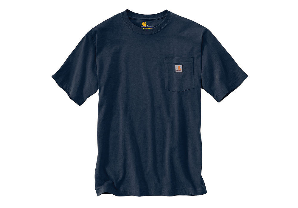 Mens carhartt k87 pocket t shirt navy for Carhartt burgundy t shirt