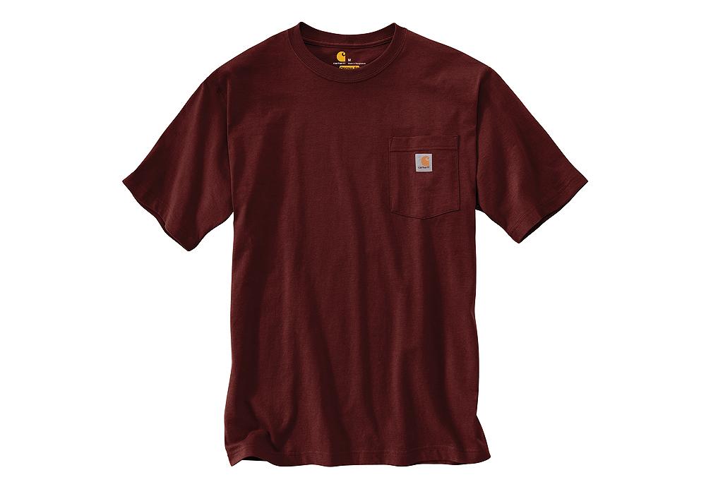 Mens Carhartt K87 Pocket T Shirt Port