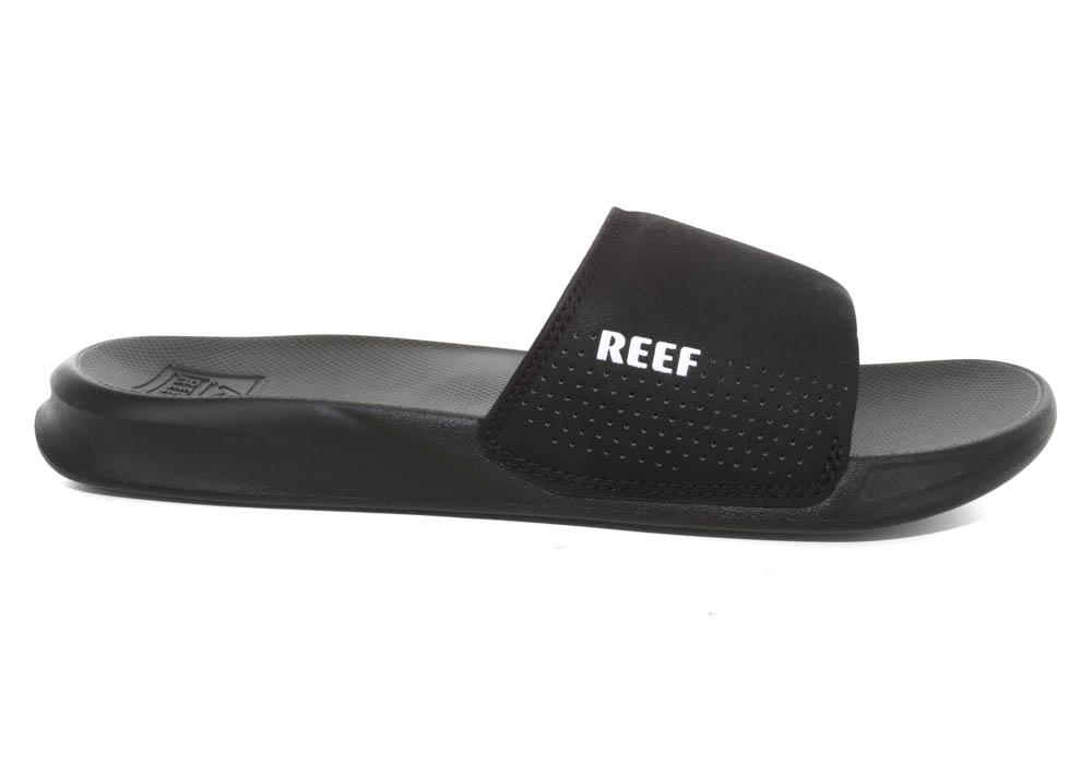 a2d81030fc9c Mens Reef One Slide Sandal Black in Black