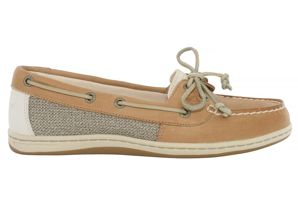 Womens Sperry Firefish Boat Shoe Linen Oat in Brown 9c81057b1