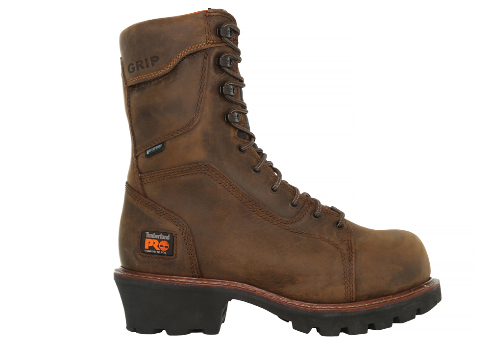 Mens Timberland Pro 9 Quot Composite Toe 400g Wp Logger Brown
