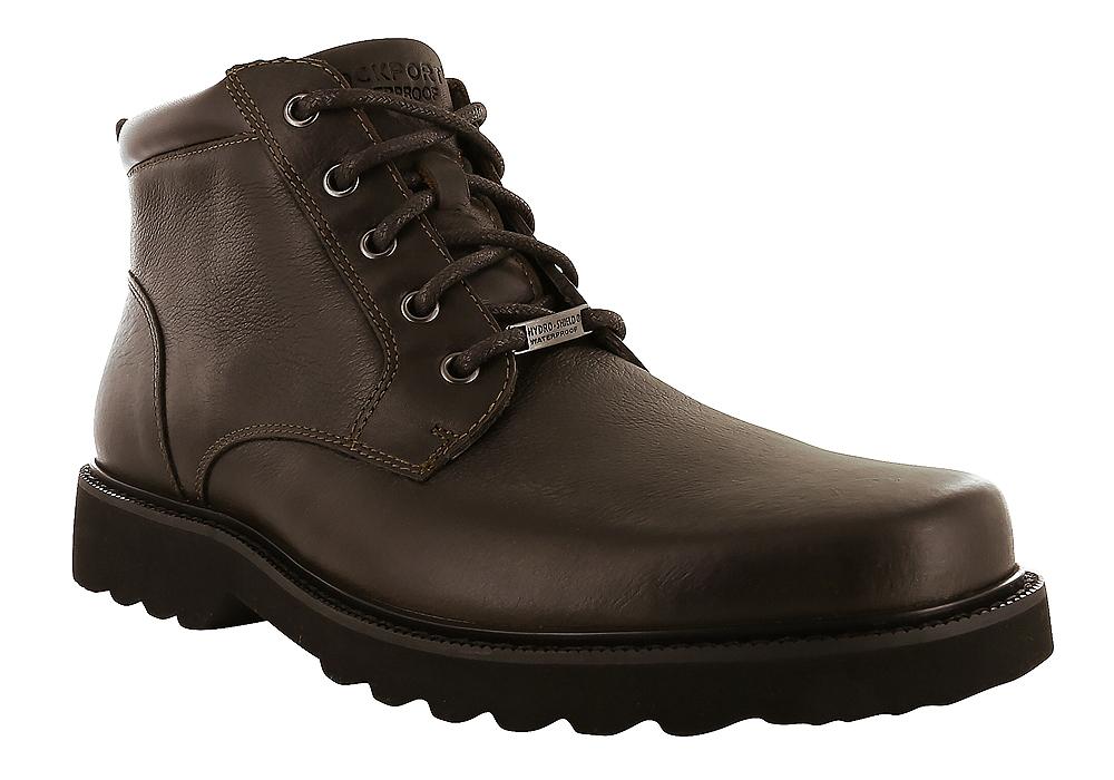 Mens Rockport Northfield Waterproof Plain Toe Boot Chocolate