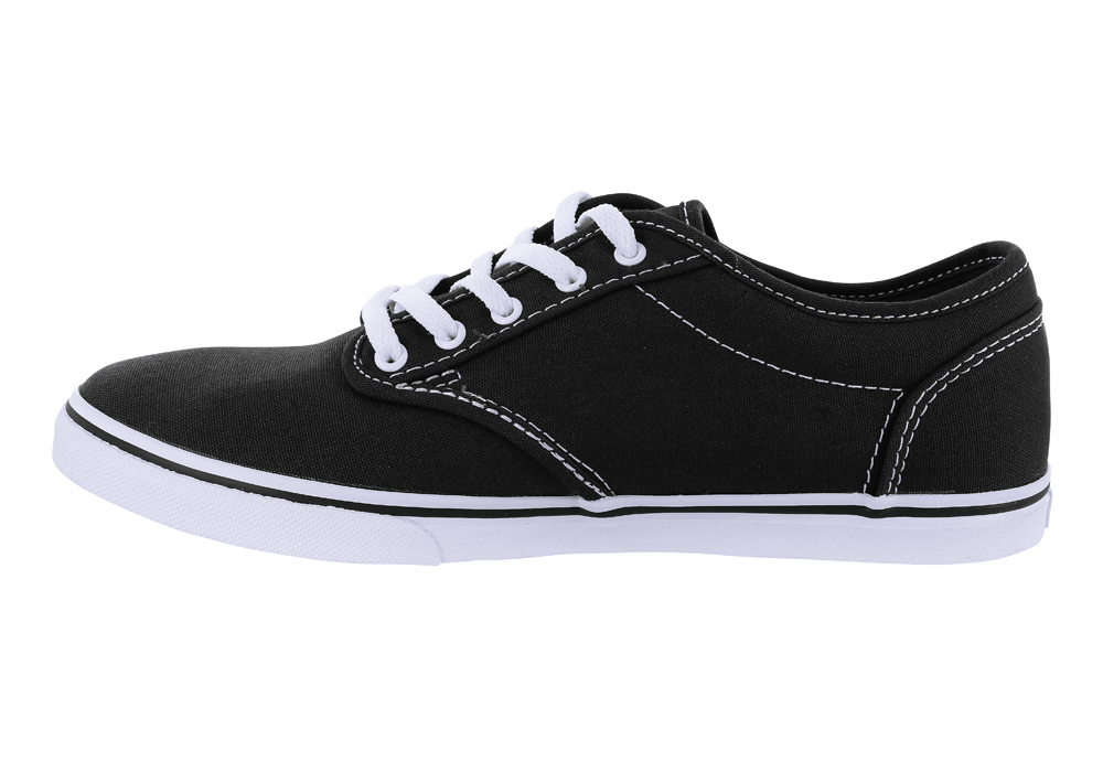 44fe5643e8 Womens Vans Atwood Low Canvas Black White in Black
