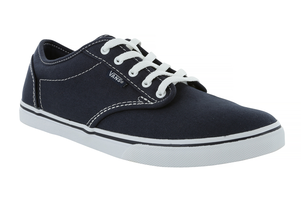 bd756360c7c32a Womens Vans Atwood Low Canvas Navy White in Blue