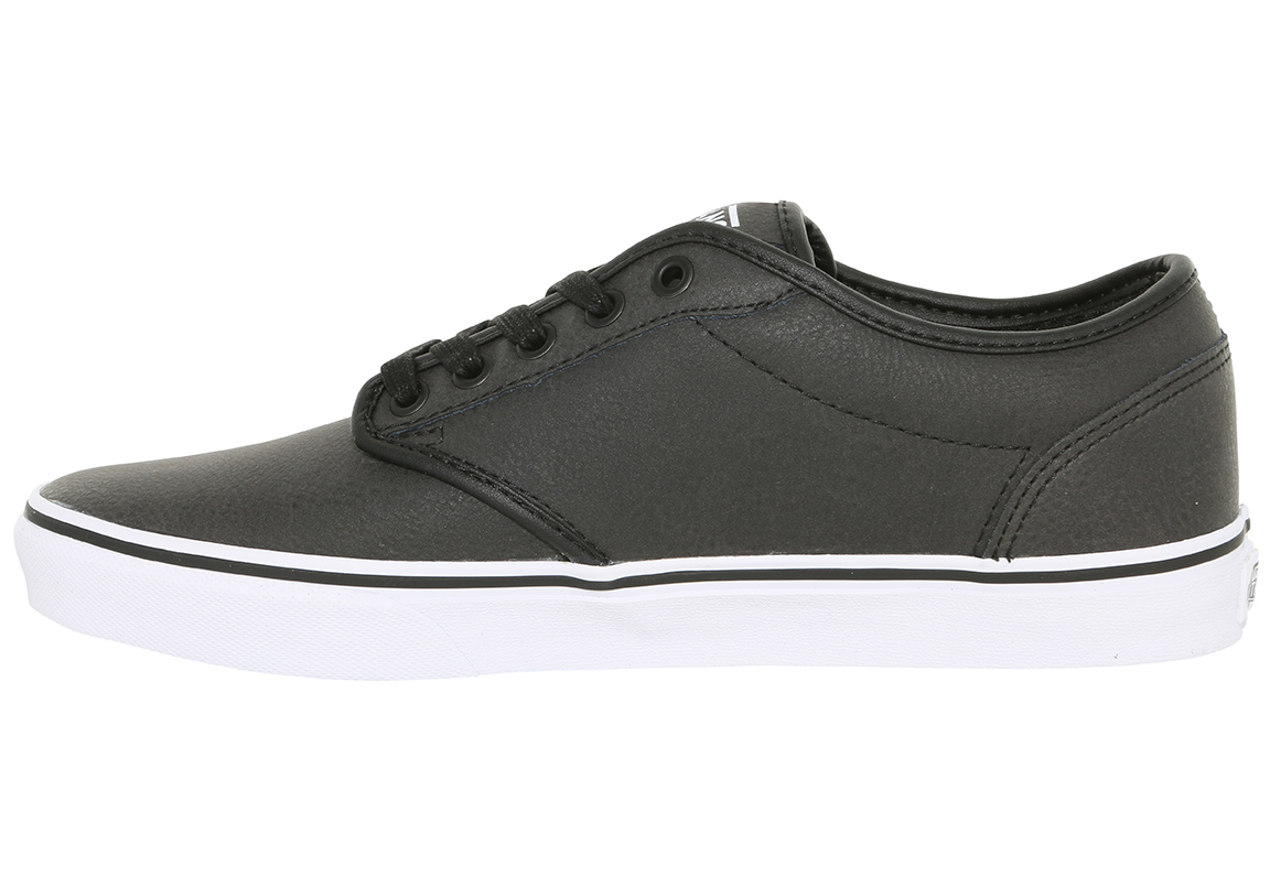 black leather vans atwood