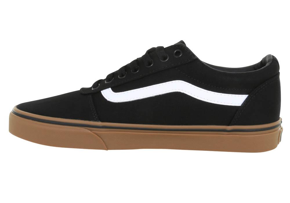 Mens Vans Ward Canvas Low Black/White/Gum