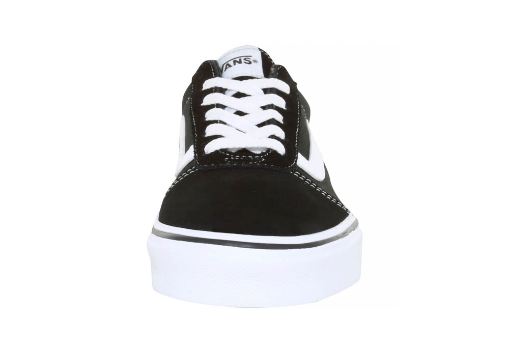 Womens Vans Ward Lo Suede Canvas Black White in 1e537ee15