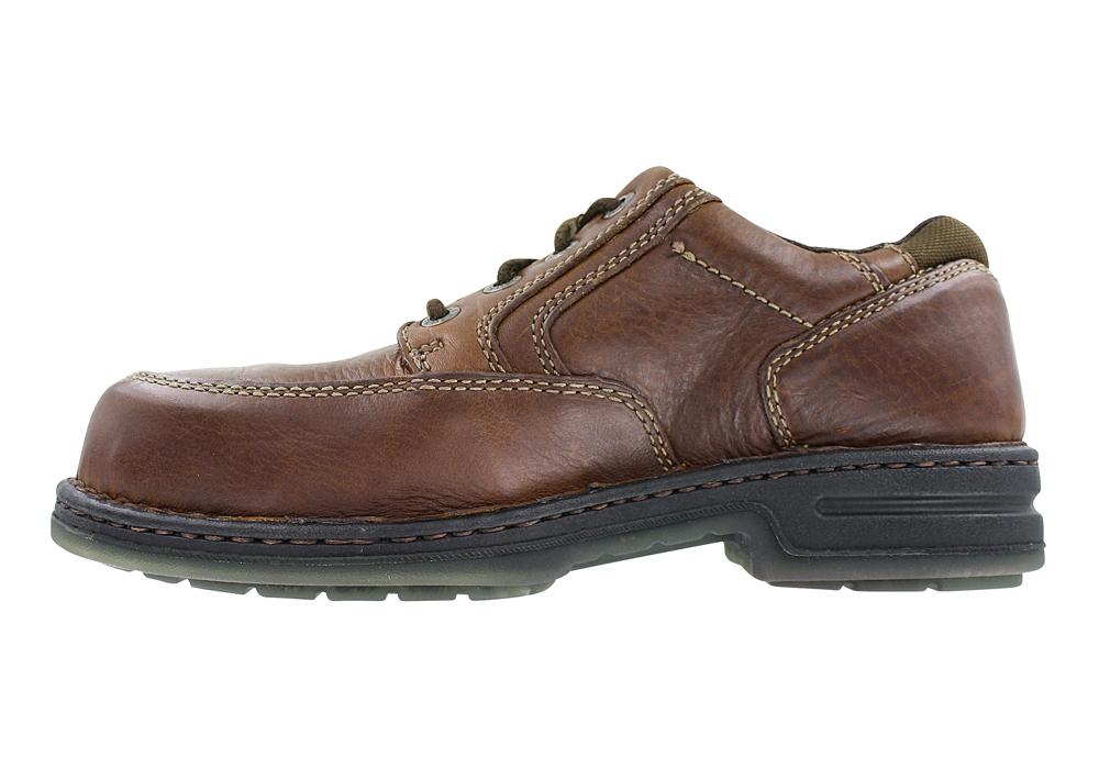 Mens Wolverine DuraShocks® Steel Toe Oxford Brown in Brown