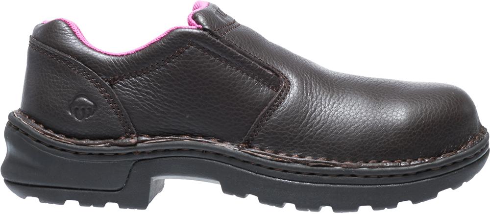 ef6374115c4 Womens Wolverine Bailey Steel Toe Slip On Brown in Brown