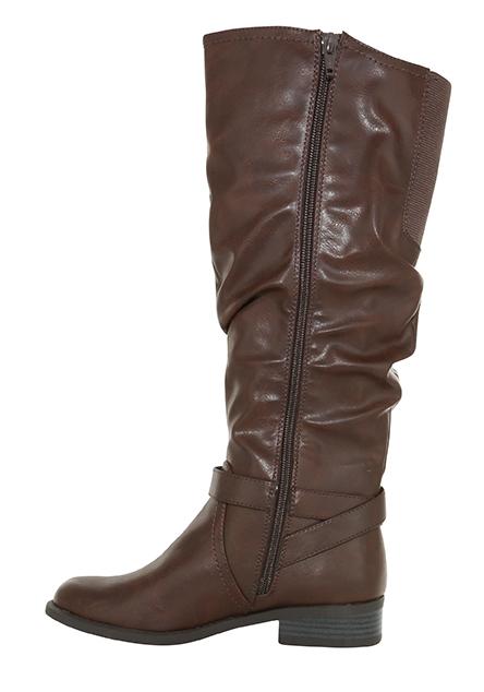 Womens White Mountain Layton Side Zip Boot Brown