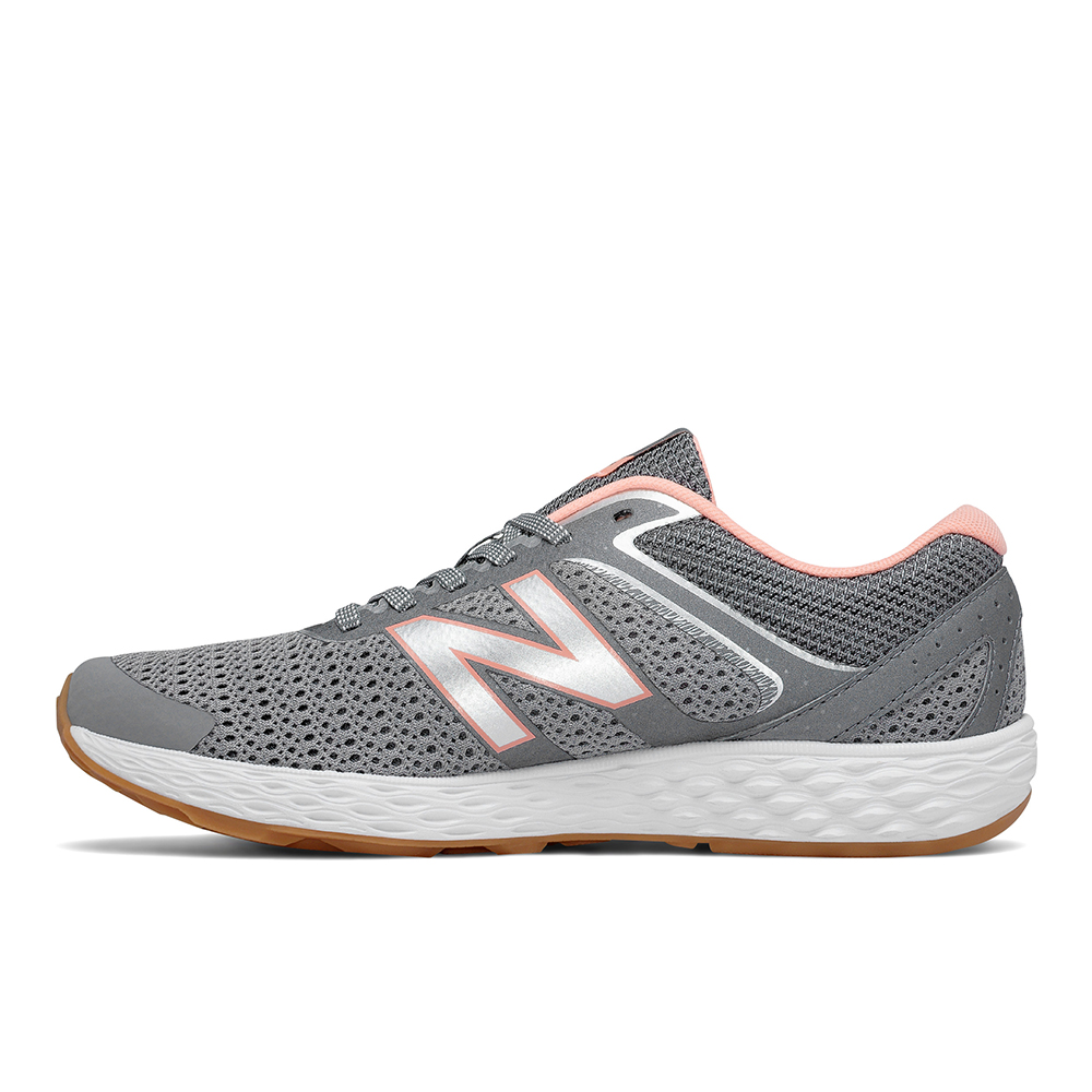 womens new balance 520 comfort ride runner gray coral. Black Bedroom Furniture Sets. Home Design Ideas