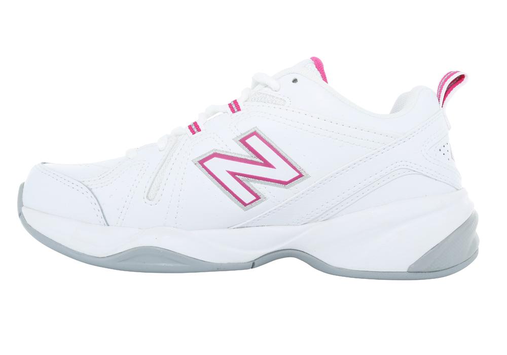 527e8ec13 Womens New Balance 608v4 Cross Trainer White/Pink in White