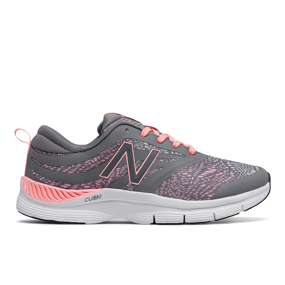 Womens New Balance 713 Gym Trainer Gray/Coral Print