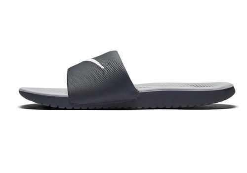Mens Nike Kawa Slide Gray/White in Gray ...