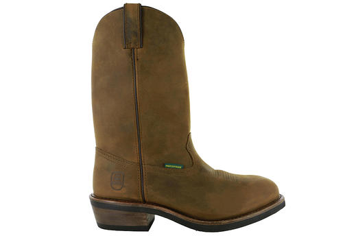 Mens Dan Post Boots 12 Quot Steel Toe Waterproof Wellington Brown