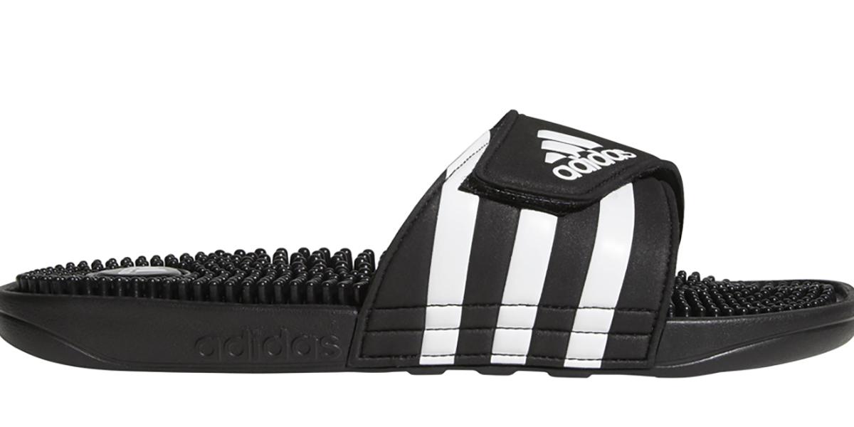 7f0cd9c463c5 Adidas   Mens Adidas Adissage Slide Black White