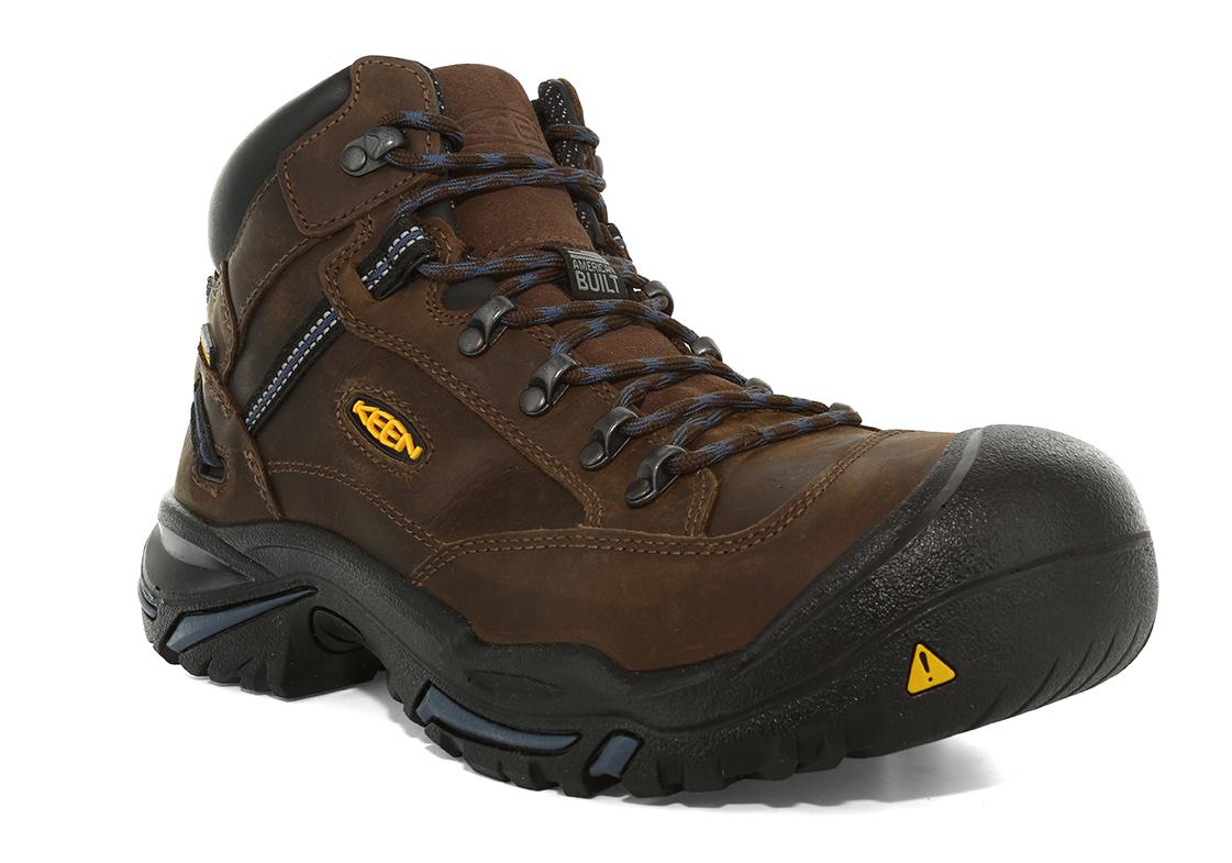 5755677841d Mens KEEN Utility Steel Toe Waterproof USA Braddock Brown